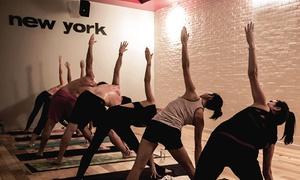 sweat yoga: 10 Yoga Classes or One Unlimited Month at sweat yoga (Up to 70% Off)
