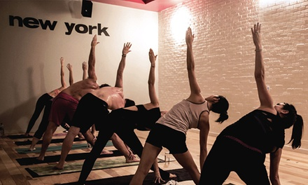 10 Yoga Classes or One Unlimited Month at sweat yoga (Up to 70% Off)