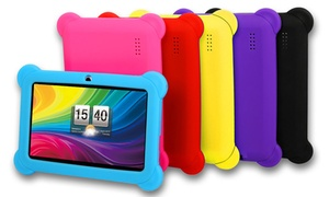 "DX758 8GB 7"" Kids' Android Tablet with Case and Stylus: DX758 8GB 7"" Kids' Tablet with Android OS, Protective Case, Stylus, Carrying Pouch, and Screen Protector"