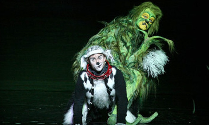 """Dr. Seuss' How the Grinch Stole Christmas! The Musical - Citi Performing Arts Center Wang Theatre: $44 to See """"Dr. Seuss' How the Grinch Stole Christmas! The Musical"""" at Citi Performing Arts Center ($73.25 Value)"""