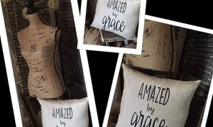 Grace Gear: $12 for Amazed by Grace Custom Pillow Cover by Grace Gear (52% Off)
