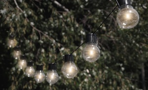 Outdoor String Lights Solar Powered: Nitebulbs Solar Powered Outdoor String Lights,Lighting
