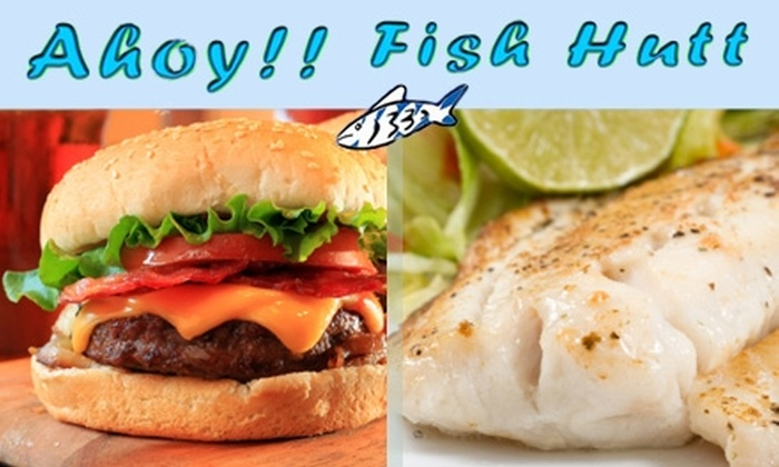 Ahoy! Fish Hutt - Gardiner Lane: $7 for $15 Worth of Seafood and Drinks at Ahoy! Fish Hutt