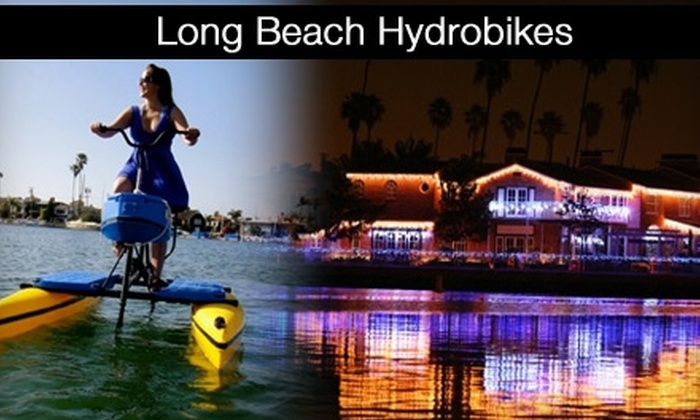 Long Beach Hydrobikes - Belmont Shore: $20 Naples Canals Holiday Lights Tour from Long Beach Hydrobikes (Up to $40 Value)