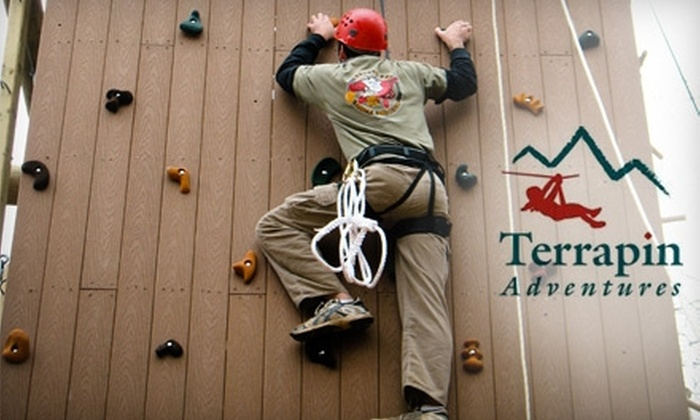 Terrapin Adventures - Savage - Guilford: $18 for a Terrapin Tower Climbing Adventure from Terrapin Adventures