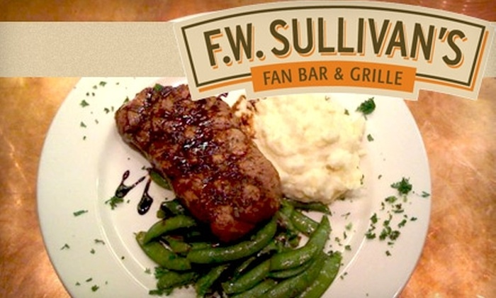 F.W. Sullivan's Fan Bar & Grille - The Fan: $10 for $20 Worth of Gourmet American Pub Fare and Drinks at F.W. Sullivan's Fan Bar & Grille