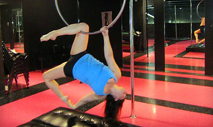 Kara's Pole Studio - Multiple Locations: Three Pole-Dance Classes or One Aerial Hoop Beginners' Workshop at Kara's Pole Studio (Up to 67% Off)