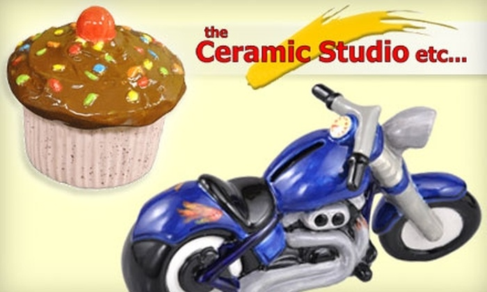 The Ceramic Studio Etc. - Genoa: $15 for $30 Worth of DIY Pottery Painting and Glass Fusing at The Ceramic Studio Etc. in Howell