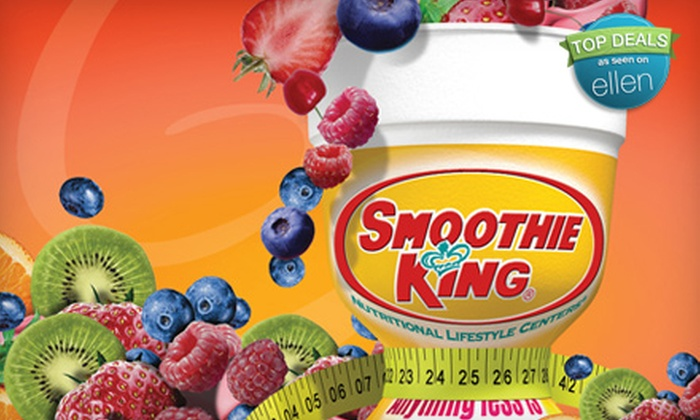 Smoothie King  - Concord: $5 for $10 Worth of Smoothies and Yogurt at Smoothie King in Lynchburg