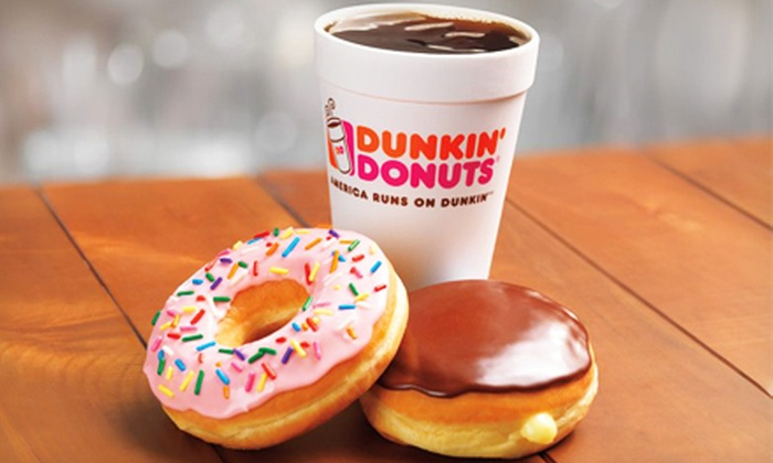Dunkin' Donuts - Farmington: $10 for Five Groupons, Each Good for $4 Worth of Donuts, Coffee, and Sandwiches at Dunkin' Donuts