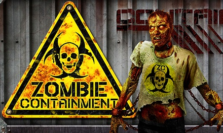 Day or Night Entry for Two to The Fear at Navy Pier Presents Zombie Containment. Six Options Available