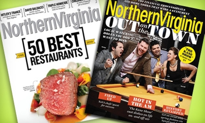 """Northern Virginia Magazine: $10 for a One-Year Subscription to """"Northern Virginia Magazine"""" ($20 Value)"""
