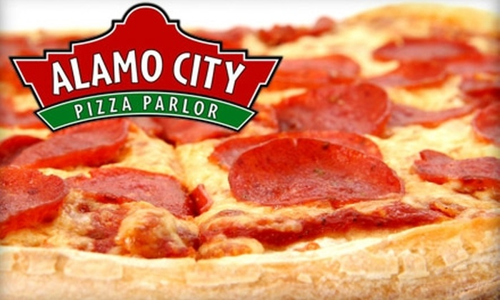 Alamo City Pizza Parlor - Jefferson: $10 for $20 Worth of Pizza, Sandwiches, and More from Alamo City Pizza Parlor