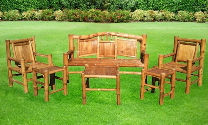 Backyard X-Scapes - Sorrento Valley: $349 for a Six-Piece Bamboo Outdoor-Furniture Set from Backyard X-Scapes ($699.97 Value)