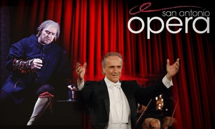 """San Antonio Opera - Multiple Locations: 47% Off Ticket to Tenor José Carreras or """"Rigoletto"""" at the San Antonio Opera. Choose from 4 Dates."""