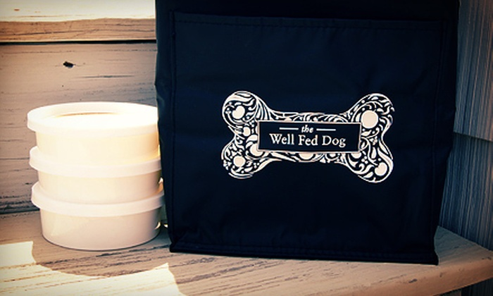 The Well Fed Dog - Greendale: One or Three Months of Delivered Dog Food from The Well Fed Dog (59% Off)