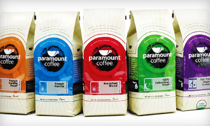 Paramount Coffee Company's: $15 for $30 Worth of Organic and Flavored Coffee from Paramount Coffee Company