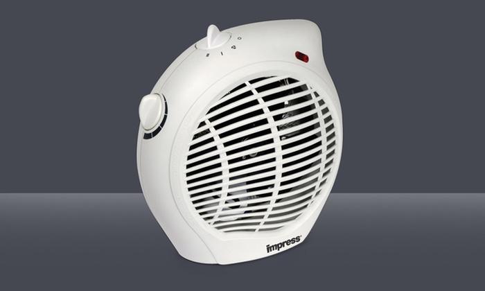 Impress 1,500-Watt Heater Fan with Adjustable Thermostat: Impress 1,500-Watt Heater Fan with Adjustable Thermostat.