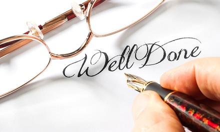 Online-Kurs Kalligrafie, optional mit Fernlehrerbetreuung, von Laudius (bis zu 78% sparen)