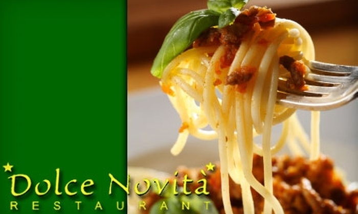 Dolce Novita Restaurant - Moonachie: $17 for $35 Worth of Italian Cuisine and Drinks at Dolce Novita Restaurant