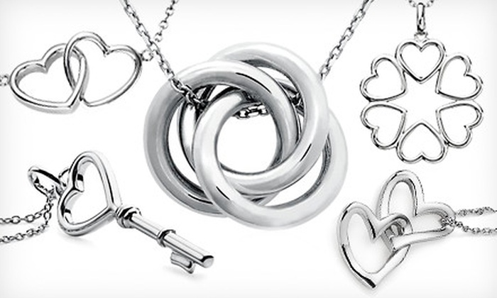 Blue Nile Sterling Silver Necklaces: Blue Nile Sterling Silver Pendants and Necklaces (Up to 46% Off). Five Designs Available. Ships in 7 days. May not arrive by 12/24.