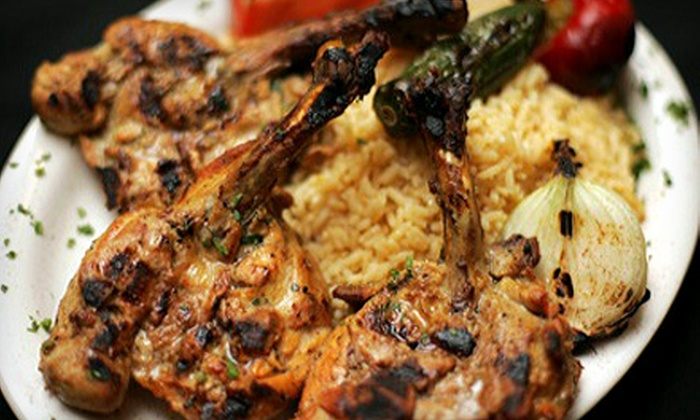 El Sham Restaurant - Hamilton: Middle Eastern Meal with Appetizer and Sandwiches or Entrees for Two at El Sham Restaurant in Hamilton (Up to 55% Off)