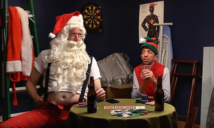 "Laugh Out Loud Theater - Laugh Out Loud Theater Schaumburg: ""Holiday Hangover"" or ""Ha-Ha-Holiday Show"" Improv Comedy with Popcorn at Laugh Out Loud Theater (Up to 55% Off)"