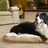 Deluxe Pet Pillow Bed with Faux-Fur Top, Suede Gussets, and Fiber Fill