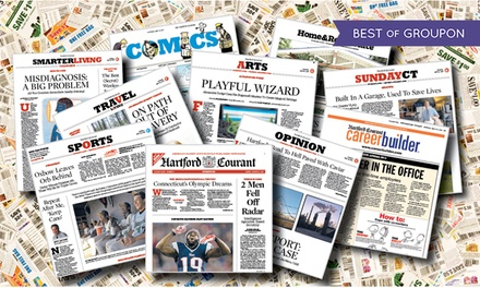 "52-Week Sunday-Only or Thursday–Sunday Subscription to the ""Hartford Courant"" (Up to 89% Off)"