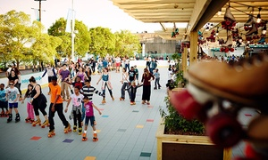 Delaware River Waterfront: Rollerskating with Rental Skates for Two at Blue Cross RiverRink Summerfest (Up to 50% Off). Two Options Available.