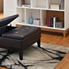 Dover Split-Top Square Ottoman and Coffee Table
