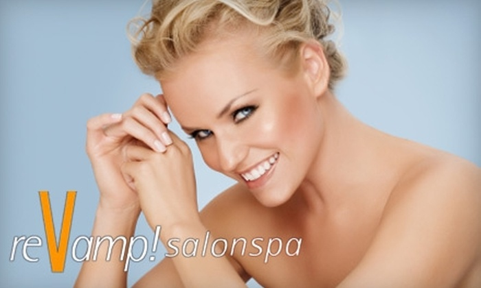 ReVamp! Salonspa - Uptown: $22 for Airbrush Sunless Tanning ($49 Value) or $53 for a Macrodermabrasion ($119 Value) at ReVamp! Salonspa