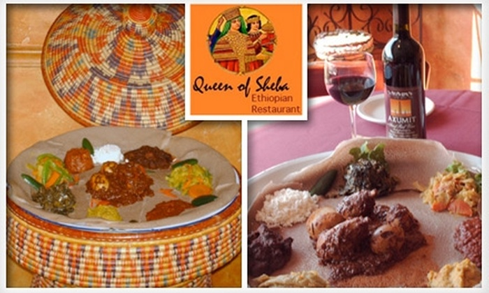 Queen of Sheba - Golfview: $10 for $20 Worth of Ethiopian Cuisine and Drinks at Queen of Sheba