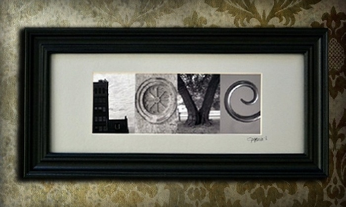Alpha Mama Art - Raleigh / Durham: $32 for Up to 10 Custom Art Letters in a Medium Frame from Alpha Mama Art ($65 Value)
