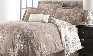 Hotel 5th Ave Foliage Reversible Comforter Set (6-Piece)
