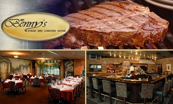 Mr. Benny's Steak and Lobster House - Multiple Locations: $20 for $40 Worth of Surf, Turf, and More at Mr. Benny's Steak and Lobster House in Mokena or Matteson