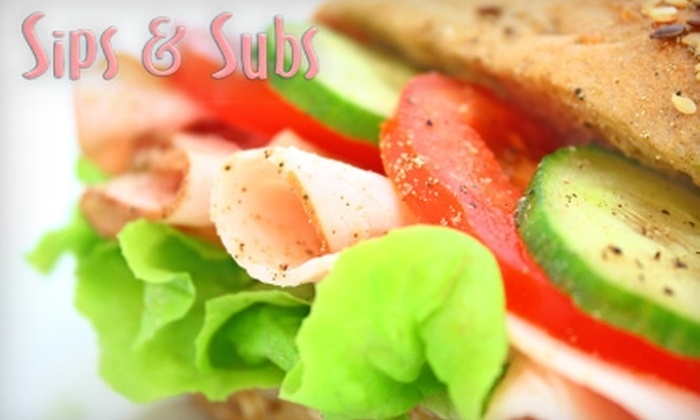 Sips & Subs - Woods Park: $25 for a Large Tray of Sandwiches and Wraps with Delivery from Sips & Subs