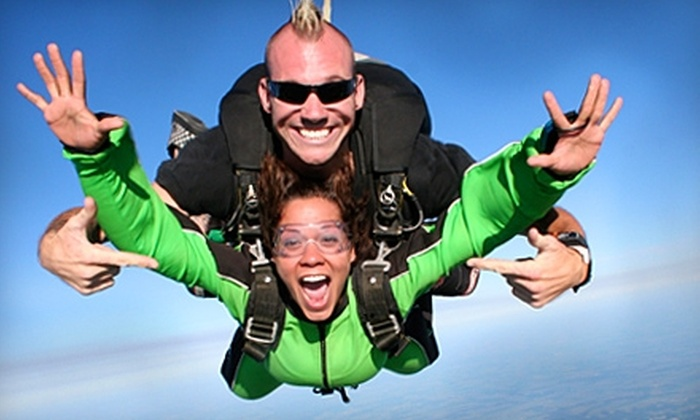 Plymouth Sky Sports - Plymouth: $125 for a Tandem Skydive from Plymouth Sky Sports (Up to $195 Value)