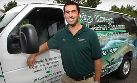 Carpet Cleaning for 3 Rooms Up to 500 Square Feet (a $124.99 value) - Go Green Carpet Cleaning in