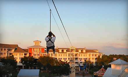 3 Baytowne Zip Line Rides for 1 Person (a $54 value) - Baytowne Adventure Zone in Miramar Beach