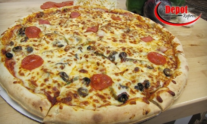 The Depot Express - Multiple Locations: $7 for $15 Worth of Pizza at The Depot Express. Choose from Three Locations.