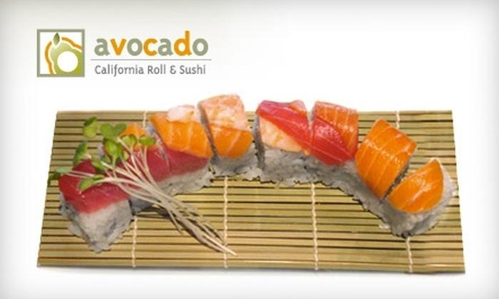 Avocado California Roll and Sushi - North Dallas: $10 for $20 Worth of Sushi at Avocado California Roll and Sushi in Dallas
