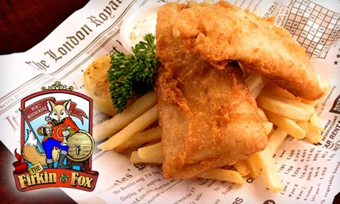 Firkin & Fox - Modesto: $10 for $20 Worth of Pub Fare and Pours at The Firkin & Fox Pub & Restaurant