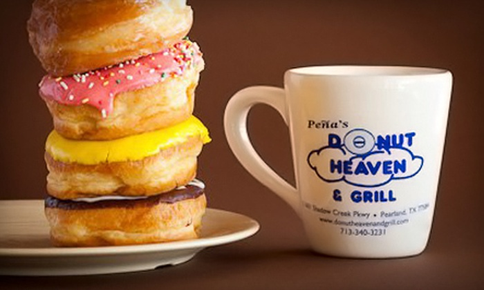 Peña's Donut Heaven & Grill - Shadow Creek Ranch: Donuts and Kolaches at Peña's Donut Heaven & Grill in Pearland (Half Off). Two Options Available.