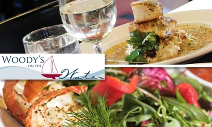 Woody's on the Water - New Tacoma: $10 for $25 of Fresh Seafood, Steak, and Drinks at Woody's on the Water