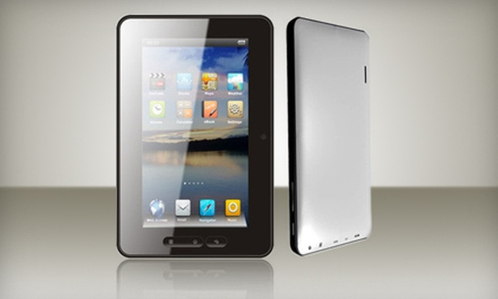 Hallmark Electronics: $129 for an Android 4.0 (Ice Cream Sandwich) 4GB Touchscreen Tablet with Built-In Microphone and WiFi from Hallmark Electronics ($285 Value)
