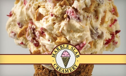 $10 Groupon to Marble Slab Creamery - Marble Slab Creamery  in New Braunfels