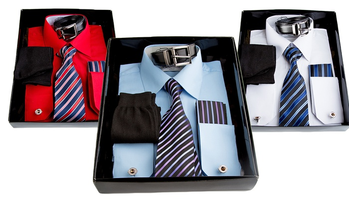 Men's Dress Shirt and Accessories Set (6-Piece)