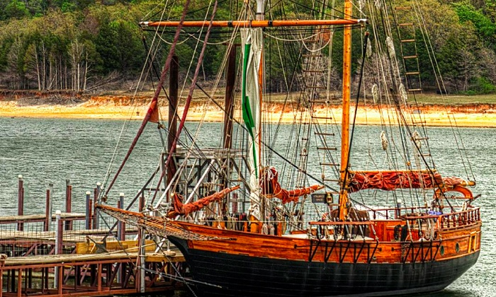 """Compass Rose - Grandpappy Point Marina: Tour of Replica 1860s Tall Ship for Two or Four from """"Compass Rose"""" (Up to 50% Off)"""