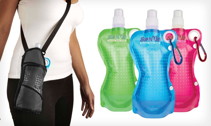 Sip N' Go Portable 17 Oz. Water Bottles: Sip N' Go Insulated Case or Water Bottles (Up to 62% Off). Five Options Available.